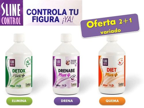 SLINE CONTROL PLUS + 500ml.(2+1 variado)